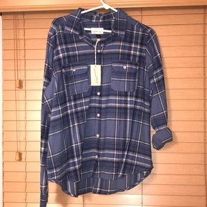 NWT blue flannel
